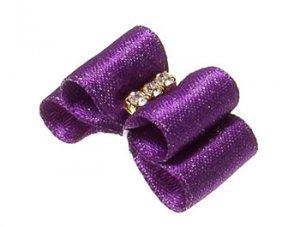 Бантик двойной объемный фиолетовый