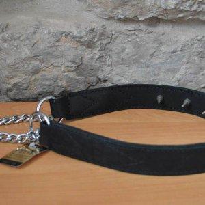 Ошейник-удавка строгий кожаный BO33560