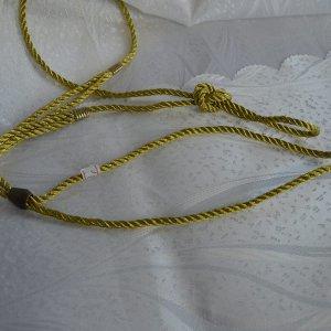 Ринговка капроновая шнур витой золото/серебро