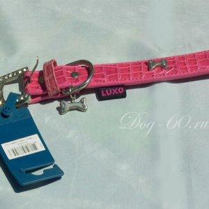 Лакированный розовый ошейник