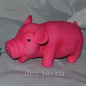 Свинка хрюкающая ярко-розовая