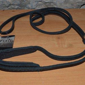 Ринговка кожаная черная с расширением В-62087