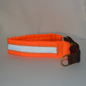 Ошейник-удавка капроновая оранжевая светоотражающая