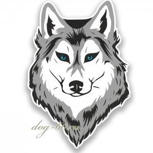Волк наклейка на машину